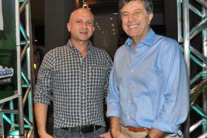 Rafael Simczak e o prefeito Murilo no lançamento da Agrometal, feira em que a Comid é uma das participantes