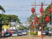 Preparativos na estrutura montada para a campanha Dourados Brilha já movimenta a área central da cidade, principalmente a praça Antônio João - A. Frota