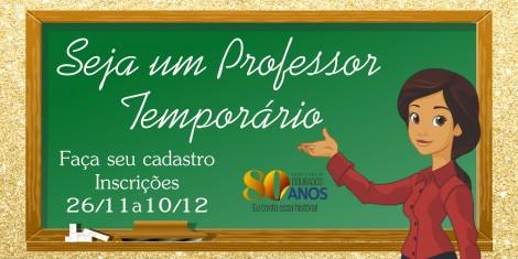 Cadastro de Professores Temporários