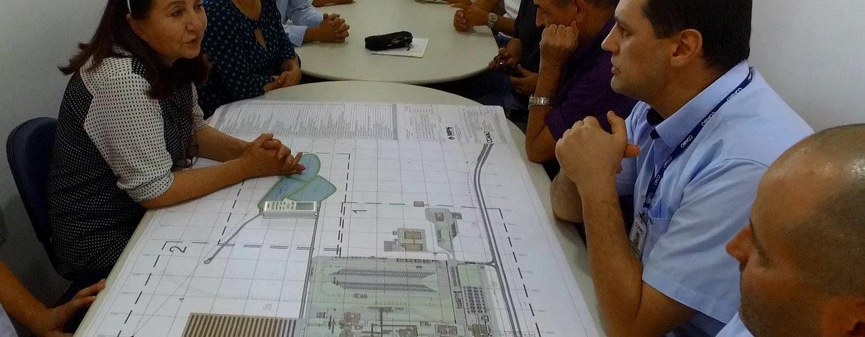 Délia visita obras da Coamo e vai  interceder em demandas da indústria