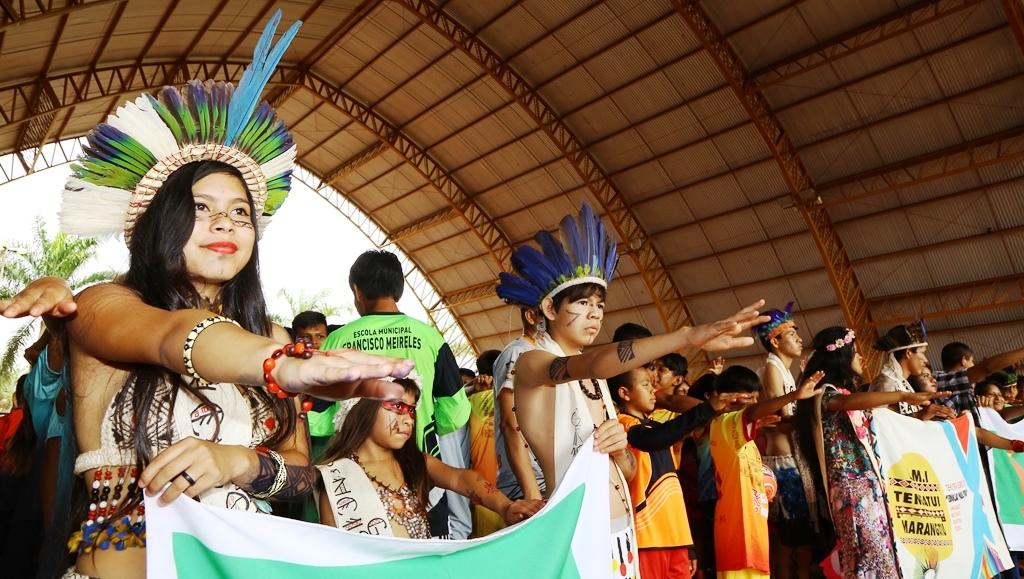 V Jogos Escolares Indígenas foi aberto  com participação da prefeita Délia Razuk