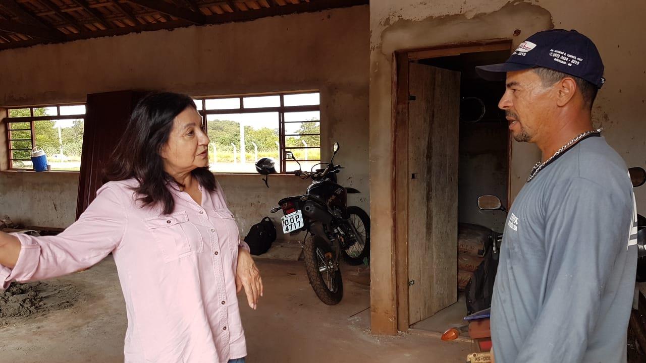 Prefeita visita obra do Centro Social do Residencial Guassu