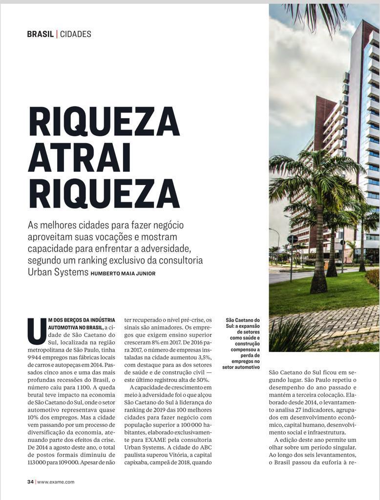 Dourados segue entre as 100 melhores cidades brasileiras para fazer negócio 1