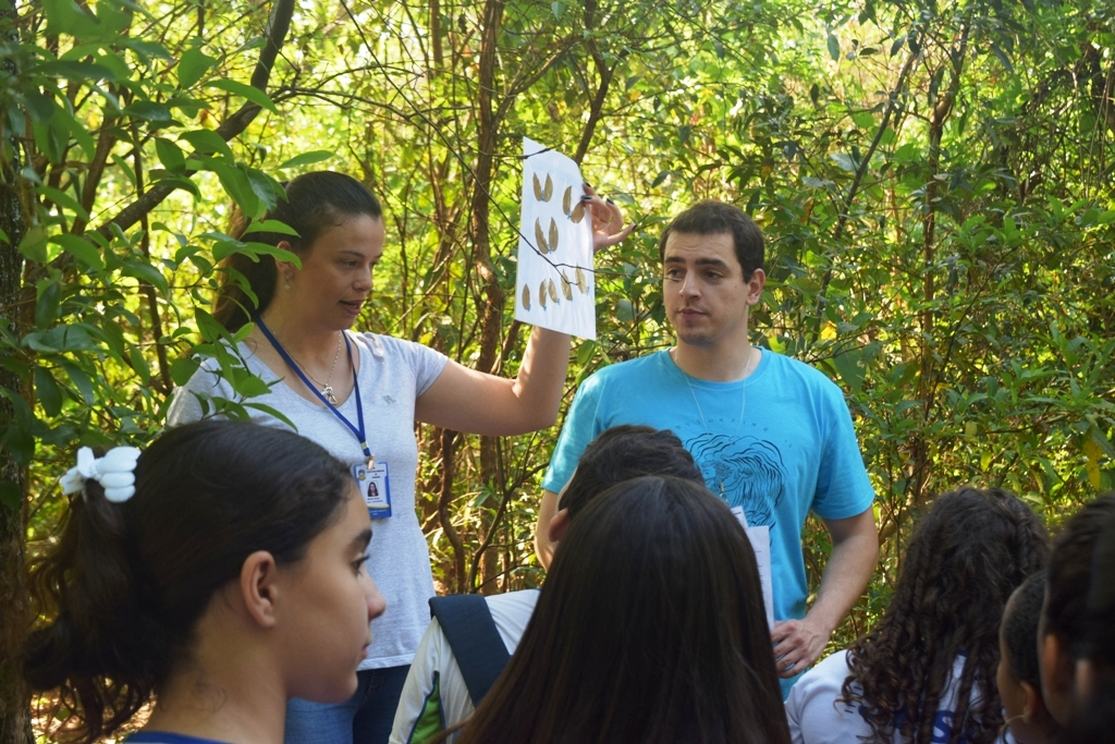 IMAM faz identificação de espécies no Parque Arnulpho Fioravanti com alunos do ensino fundamental