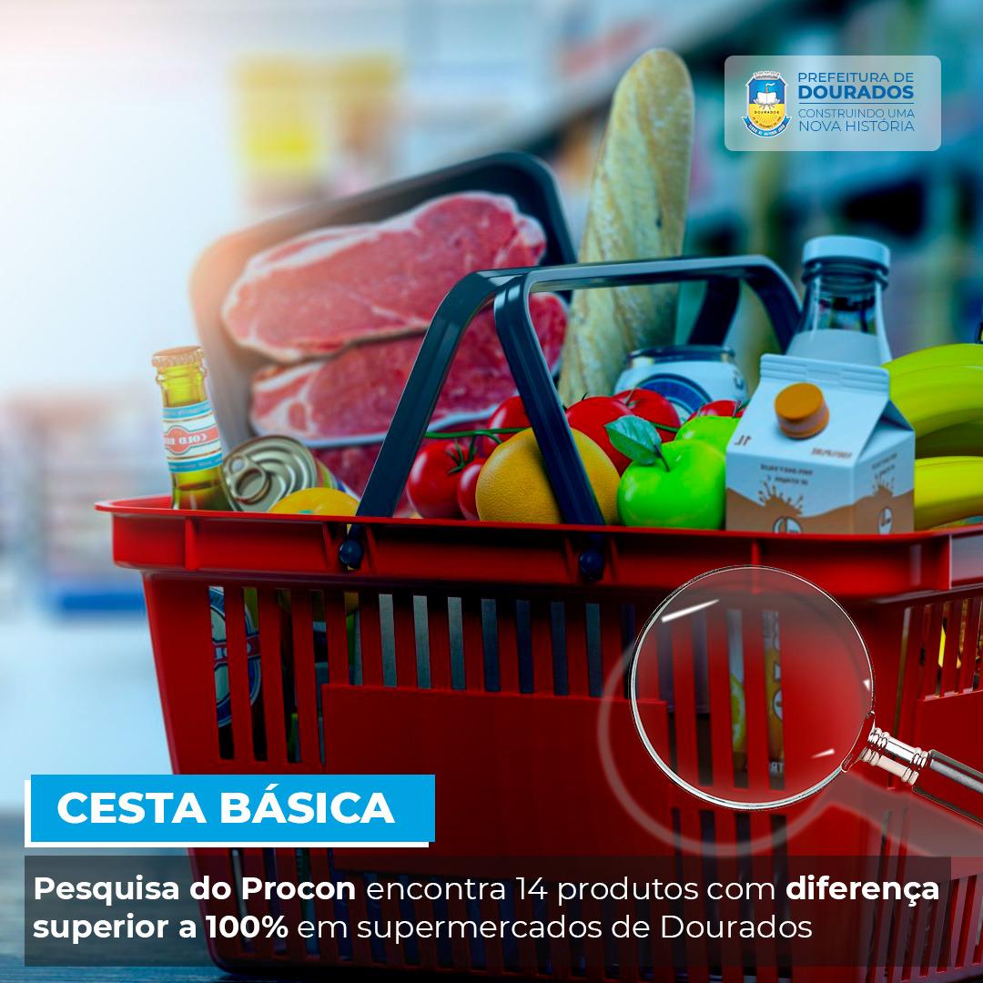 Pesquisa do Procon encontra 14 produtos com diferença superior a 100% em supermercados