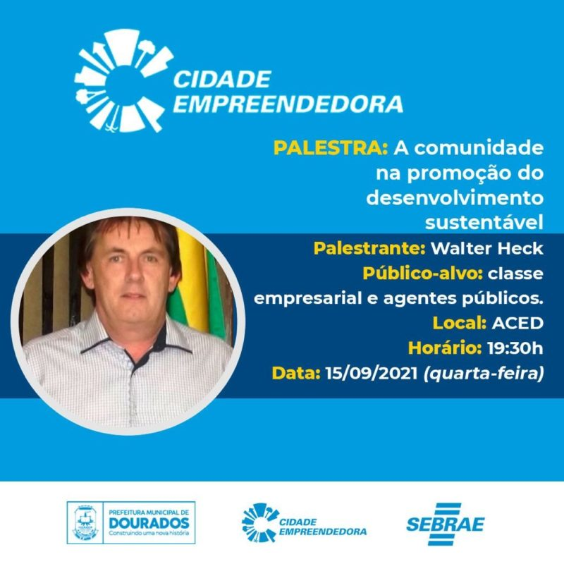 Prefeitura e Sebrae promovem palestra sobre desenvolvimento sustentável
